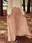 Cheetah Print Pleated Maxi Skirt *Mauve*
