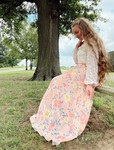 Lillie Floral Chiffon Skirt *Pink*