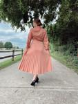Pleated Perfection Dress *Marsala*
