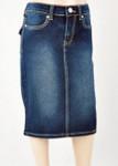 Sidney Mid Length Denim Skirt Dark Wash *Girls*