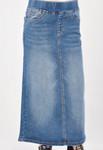 Mindy Indigo Wash Long Denim Skirt *Girls*