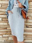 Amelia Drawstring Skirt *Heather Grey*