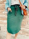 Amelia Drawstring Skirt *Hunter Green*