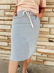 Drawstring Sport Skirt *Heather Grey*