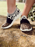 Cheetah Print Sport Tennis Shoes