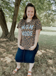 Mom Mode Leopard Graphic Tee