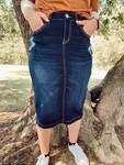 Aaliyah Denim Skirt Distressed