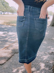 Perfect Tie Denim Skirt