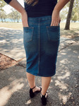 Ella Button Denim Skirt *Vintage Wash*