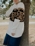 Animal Print Color Block Sweater *Plus Sizes*
