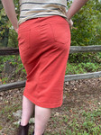 Colored Denim Skirt Terracotta *Womens*