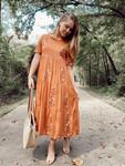 Avery Embroidered Dress *Pumpkin*
