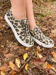 Leopard Shimmer Tennis Shoes