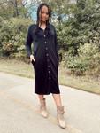 Cute As A Button Black Dress