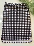 Klassy Girl Drawstring Skirt Black/White Small Check Plaid