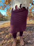 Athletic Skirt With Ankle Leggings *Plum*