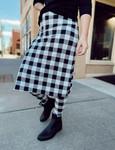 Athletic Skirt With Ankle Leggings *Black Buffalo Plaid*