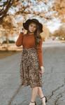Twice as Pretty Leopard Print Dress *Rust*