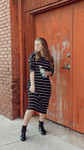 Show Your Stripes Dress *Black/Ivory*