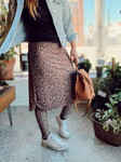 Athletic Skirt With Ankle Leggings *Leopard*