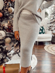 Snowy Days Sweater Skirt *Grey Stripe* Final Sale