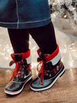 Plaid Duck Boots *Red*
