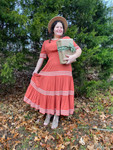 Laura Tiered Twirl Dress *Rust* FINAL SALE