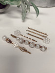 Stacking Pearls & Gold Hair Accessories *Set of 6*