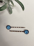 Antique Hair Pins Blue/Pink *Set of 2*