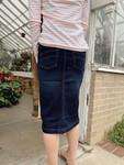 Avery Elastic Waist Denim Skirt  *Dark Wash*