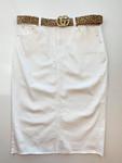 Emma Denim Skirt *White* Juniors