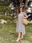 Willow Swing Dress White/Black Stripe *Womens*