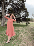 Willow Swing Dress Antique Mauve Stripe *Womens*