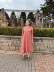 Willow Swing Dress Antique Mauve Stripe *Girls*