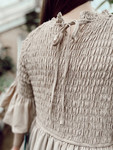 Arabella Smocked Tiered Dress *Taupe*