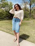 Bailey Distressed Denim Skirt *Light Wash*