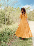 My Sunny Side Tiered Twirl Dress *Golden*