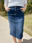 Addi Denim Skirt  *Indigo*
