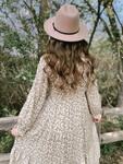 Boutique Felt Hat in Tan