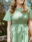 Getting Over You Mint Smocked Knit Dress