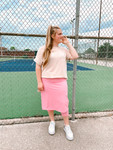 Modest Athletic Skirt With Leggings *Pink*