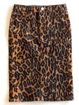 Colored Denim Skirt Animal Print *Girls*
