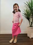 Modest Swim Skirt With Leggings Kids Pink