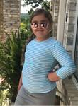 Girl's Modest Swim Top Aqua Stripe (Final Sale)