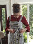 Andrea Ruffle Layering Shirt Burgundy