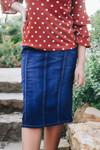 Lillian Dark Wash Denim Skirt