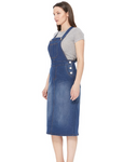 Lena Overall Jumper Dress Indigo Wash