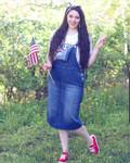Lena Overall Jumper Dress Indigo Wash