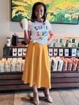 Melody Circle Skirt Mustard