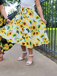 Sunflower Fields Skirt in White